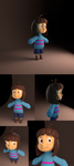 Undertale - Frisk model by TC-96