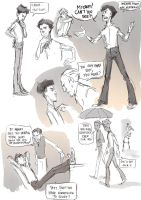 Teenager Sherlock with Sneakers sketchdump by DrSlug