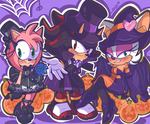 SPOOPY Amy Shadow and Rouge by chibiirose