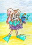 Cream and Cheese at the beach by SonicXGirlsClub