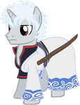 Gintoki Sakata Ponified by ArronSkull66