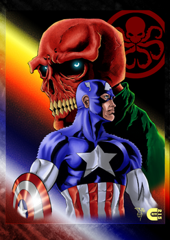 Captain America and Red Skull by criv215
