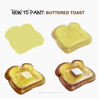 How To Paint Buttered Toast by goRillA-iNK