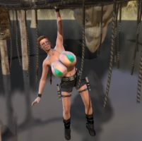 Lara Croft Hanging Around by willdial