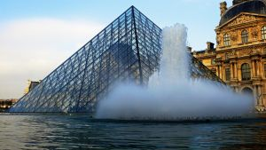 Fountain of Louvre by saint239