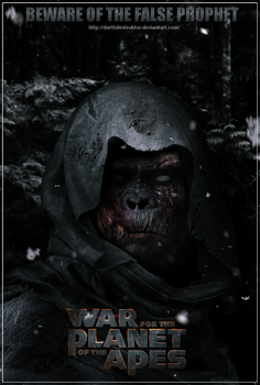 War for the Planet of the Apes fan made poster by DarthDestruktor