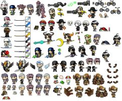 First Maple Story Sprite Sheet by Shadow443