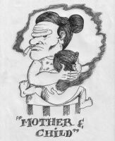 mother and child by chroma-utek
