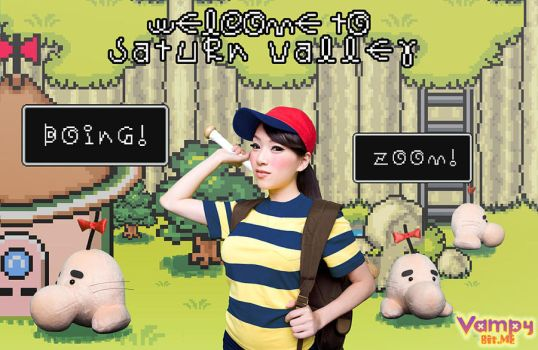 Ness invades Saturn Valley by VampBeauty