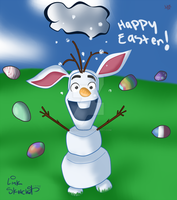 Easter Olaf by LinkSketchit