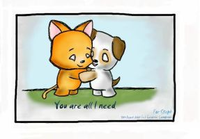 You are all I need by fuzzy-blue