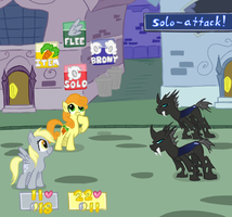 Derpy and Carrot Top: Superstar Saga by Elslowmo