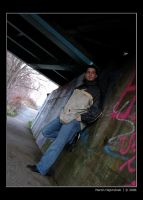 Me under train bridge by H8me-CZ