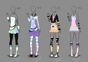 Pastel Outfit Adopts - sold by Nahemii-san