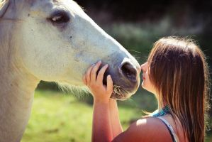 A girl and her horse. by TakeMyWorldApart