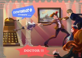 DW - the mop VS. DALEK by agathexu