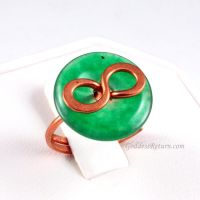 Aventurine and Copper Infinity Ring by sylva
