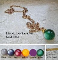 Final Fantasy VII materia necklance by LightningTheArtist