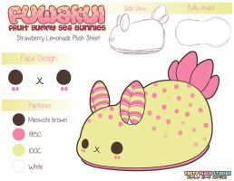 Plush Design Fuwakui Sea BunnyStrawberry Lemonade by MoogleGurl