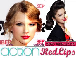 Action Red Lips by welovefamous