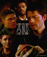 Dean and Cas by inacloudyday