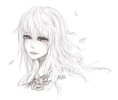 [Commission] Headshot Sketch: Katarina by Akeita