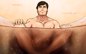 LoK [Iroh II] Bubble Bath by FrailElement