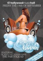 Urban Foam Party flyer by melvjehz