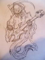 Grim Reaper with a Guitar by drgknot