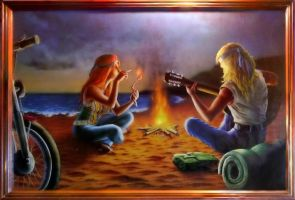 Hippie Couple -not by me- by Capt-Ahab