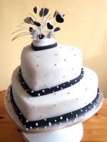 Black and White Wedding Cake by Franbann