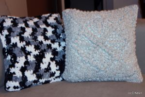 Two Crochet Pillows by Engelina-c