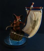 Saxon of Mouseguard Maquette by cml913