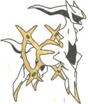 Arceus Coloured by CoolMan666