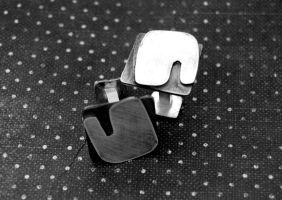 cuff links with letters by honeypunk