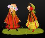 Polish  little ladies by monikoko