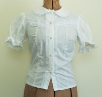 White Lolita Blouse by J-R-Creations