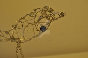 'Ralph', the Wire Bird -bead- by FarTooManyIdeas