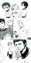 star trek sketches by Athew