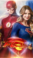 The Flash \ Supergirl - Crossover Poster by Alex4everdn