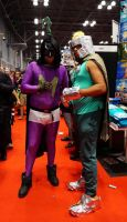 NYCC2015 Mysterion and Proffesor Chaos by zer0guard