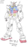 Old Art - RX-78-2 Coloured by Maneir