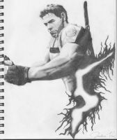 RE5's  Chris Redfield by A-Vegetarian-ZOMBIE