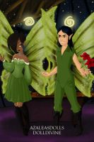 loki and me as fairys by Devilgirl007