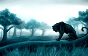 Speed Paint: Black Leopard by Rapidmare