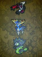 Mortality Trio: Yveltal, Xerneas, and Zygarde by LingeringSentiments