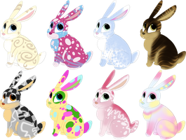 [OPEN 2/8] Set price rabbit adoptables by Nutty-Nutzis