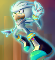 Silver the Hedgehog by jessycrackers