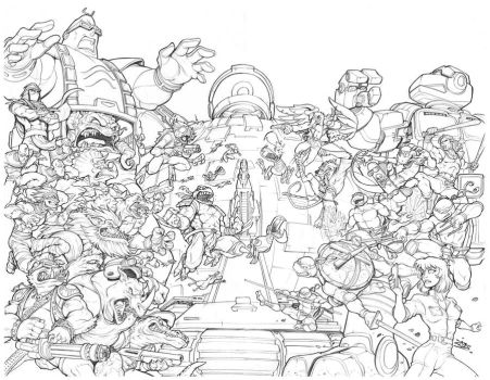 TMNT 30th Anniversary Cover Pencils by dovianax