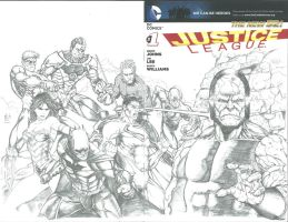 Justice League #1 Sketch Variant by Ace-Continuado